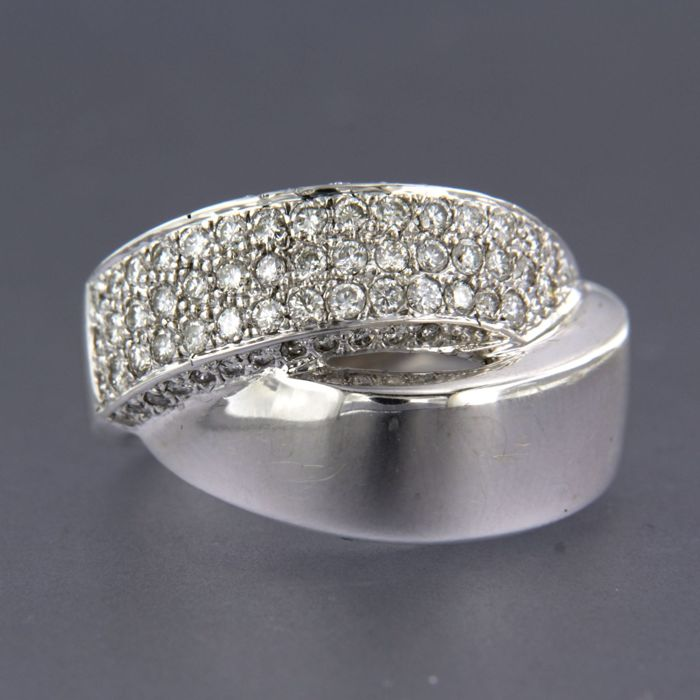 18 carats Or blanc - Bague - 1.26 ct Diamant
