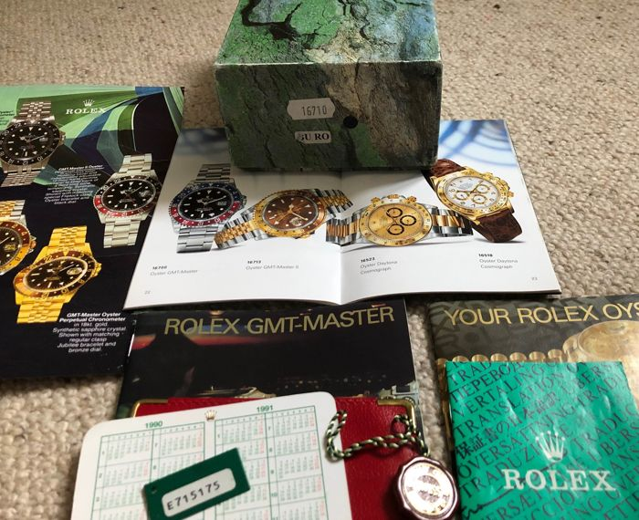 Rolex - Rolex GMT Master box set reference 16710 (88 photos) complete  - Rolex GMT master 16710  - Unisexe - 1990-1999