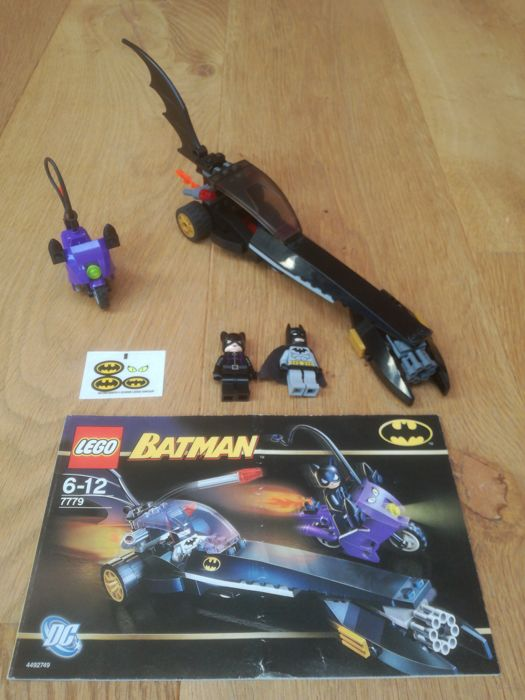 LEGO The Batman Dragster ONLY Pursuit of Catwoman 7779 W// Instruction Manual