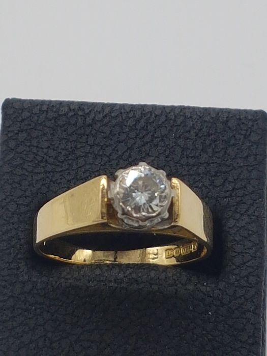 18kt Yellow Gold 0.5CT Diamond Solitaire, VS1, Pristine condition - 18 karaat Geel goud - Ring - 0.50 ct Diamant