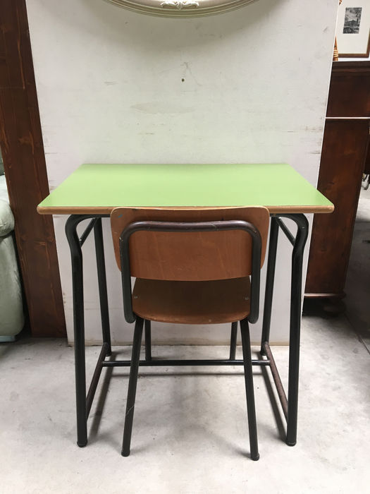 Vintage School Desk And Chair Wood Catawiki