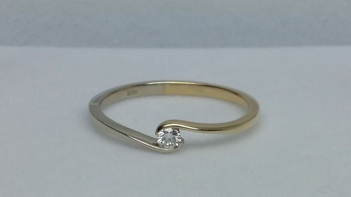 14 kt. White gold, Yellow gold - Ring
