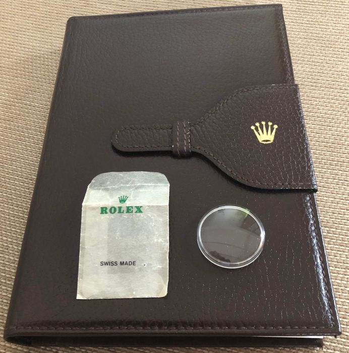 Rolex - Rolex dark brown leather organizer Ànd Submariner 5513 no date Plexi Crystal  - 2x Rolex vintage item - Unisex - 1980-1989