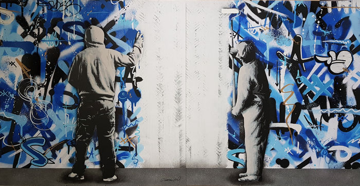 Martin Whatson - The Cycle (Diptych) - Hand Finished