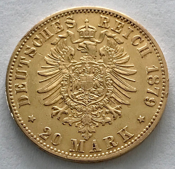 Germany - Prussia - 20 Mark 1879 A - Wilhelm I. - Gold