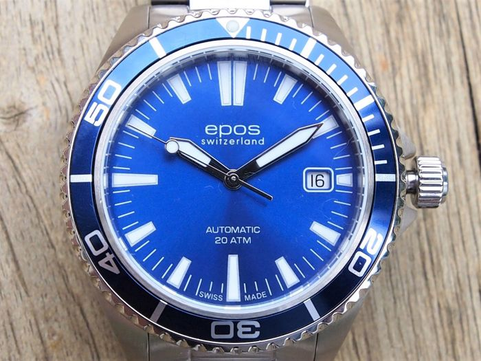 Epos - Men's Automatic Diver Watch 41MM - 3438-S/S-BLU - Men - 2011-present