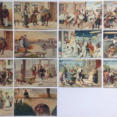 Fantasy, Arthur Thiele 2 Series - Postcards (Collection of 14) - 1909-1918