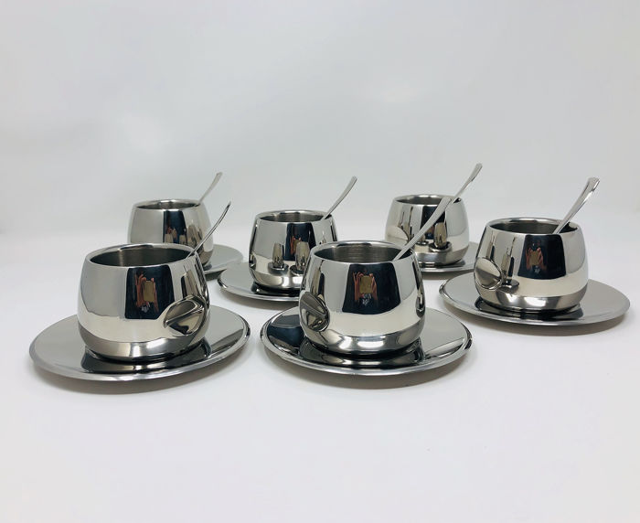 AMC  - 6 Thermal espresso cups - Steel (stainless)