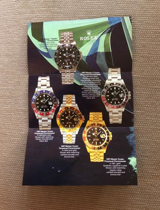 Rolex - Rolex GMT Master Brochure  Year 1987 FREE SHIPMENT  - All GMT Master Models 1987 - Unisex - 1987