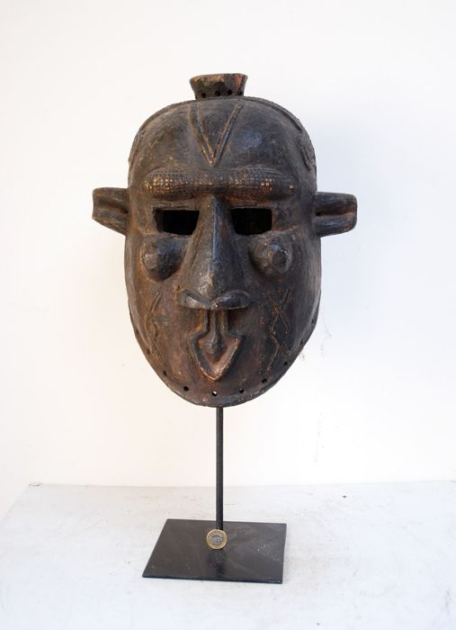 Mask - Wood - Bantous - DR Congo
