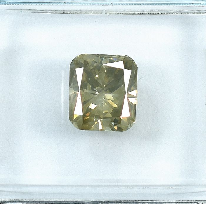 Diamant - 1.68 ct - Pute - Light Yellowish Brown - SI2