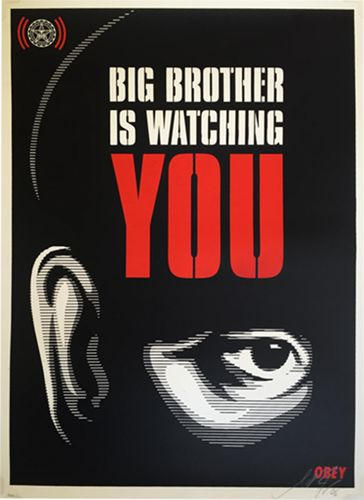 Shepard Fairey (OBEY) - Big Brother Is Watching
