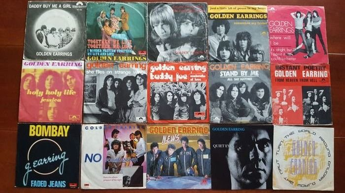 "The Golden Earring - 15 x 7"" singles - Différents titres - 45 rpm Single - 1966/1989"