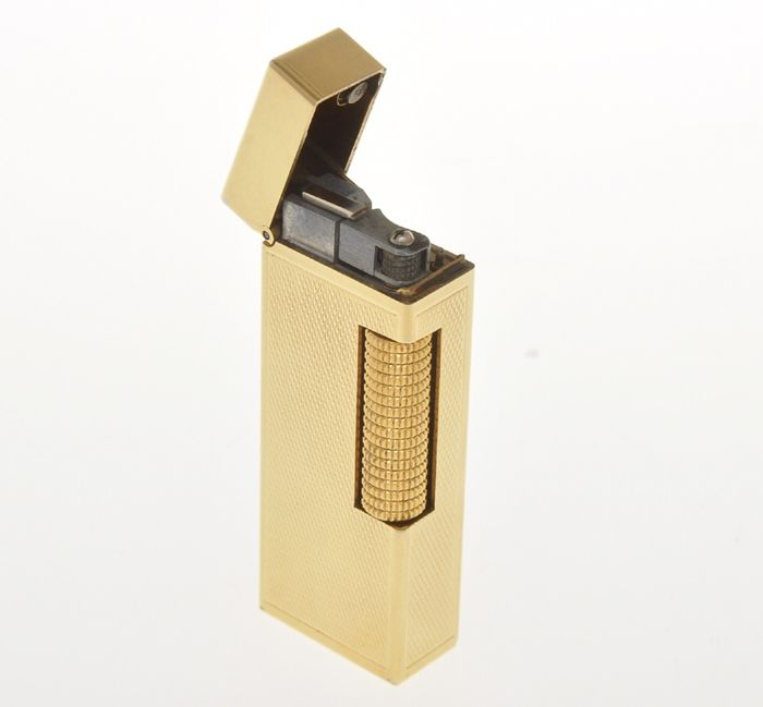 Dunhill -   vintage gold plated Rollagas lighter (just overhauled)