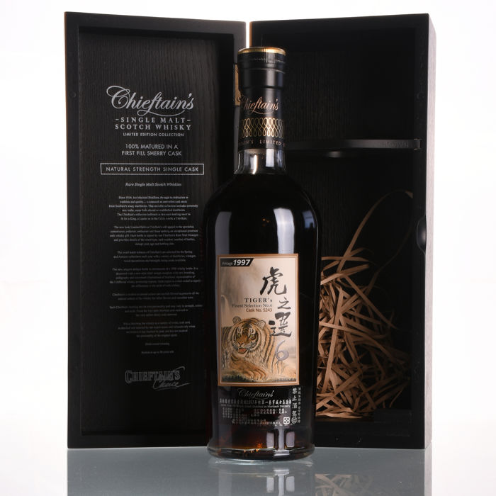 Chieftain's Mortlach 18 Year Old Vintage 1997 Tiger's Finest Selection VI  Cask #5243 - one of 616 bottles - 700ml - Catawiki