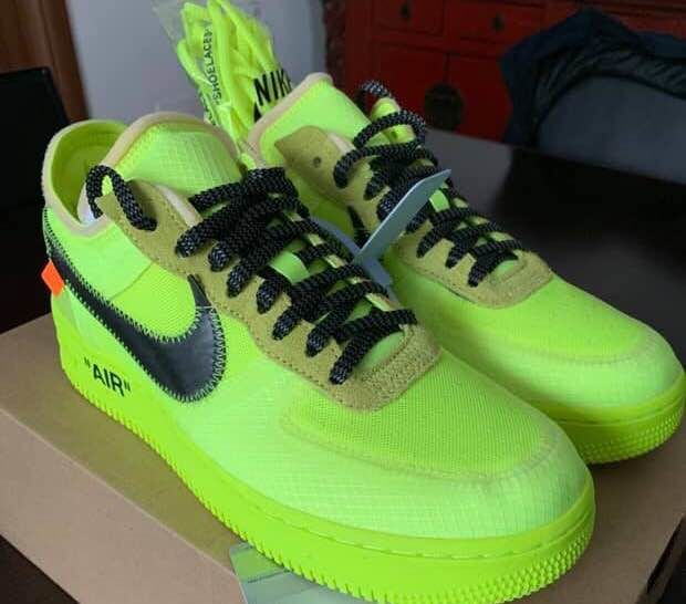 new concept a9a68 f4dca Nike (Limited Edition) - Af1 x off white Volt Sneakers - Catawiki