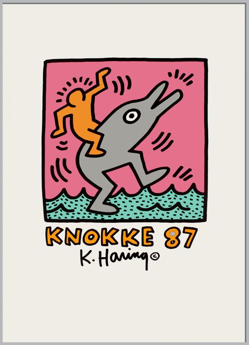 Keith Haring (after)  - Exposition Knokke  - 1987