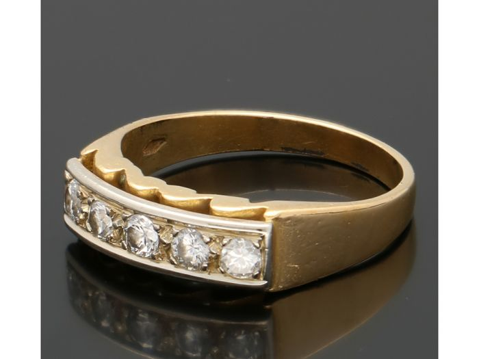 14 kt. Yellow gold - Ring - 0.30 ct Diamond