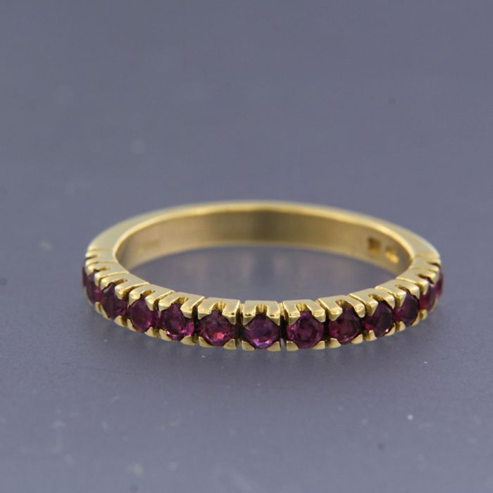 18 kt. Yellow gold - Ring - 1.00 ct Ruby