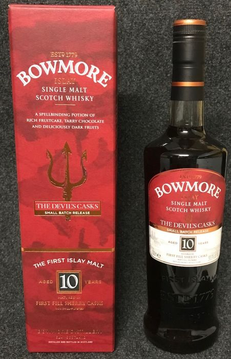 Bowmore 10 years old  - The Devil's Casks - Small Batch Release I - First Edition - 700ml