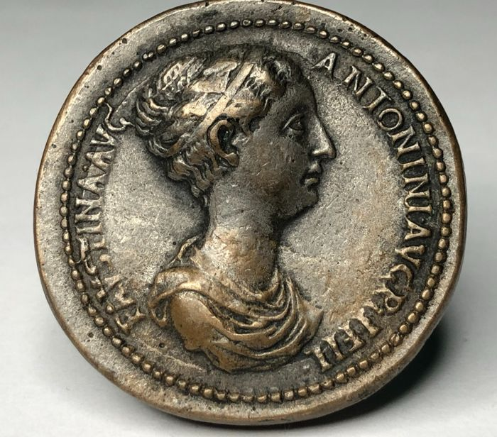 Roman Empire - Paduan style medals. After Giovanni da Cavino, After Giovanni da Cavino. Imitating Faustina II, Sestertius. Aftercast (c. 19th century)