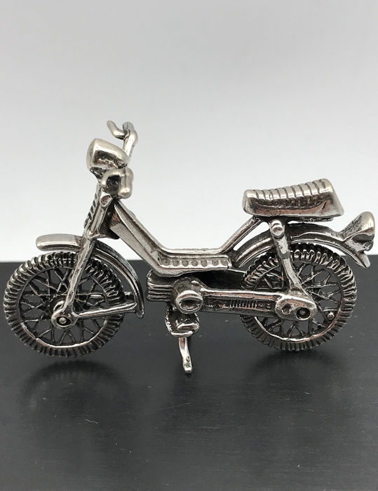 Heavy hand made 1st content Silver Miniature Tomos moped