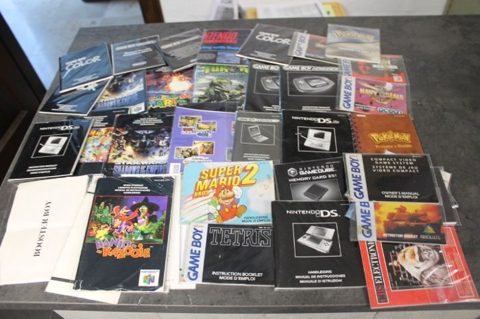 Nintendo n64 , snes , nes , gb      - manuals