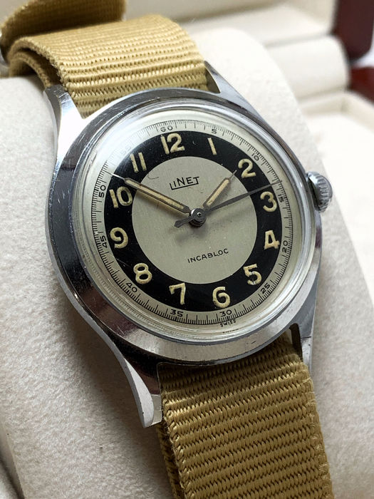 LINET - Military Style Watch - Heren - 1950-1959
