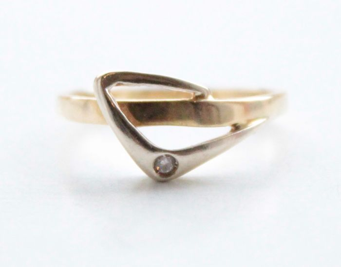 14 kt. Yellow gold - Ring Diamond - Diamonds