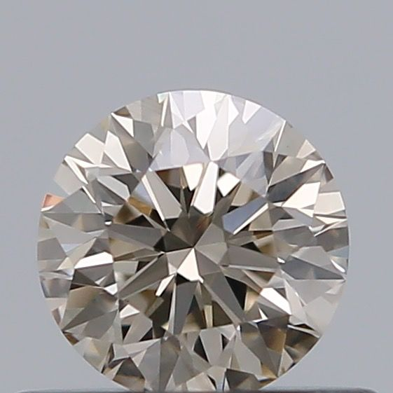 1 pcs Diamant - 0.41 ct - Rond - very light brown - VS2 ***No Reserve***