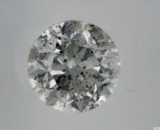 Diamante - 0.56 ct - Brilhante - G - SI2