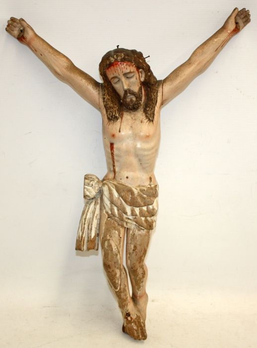 Corpus Christi (1) - Polychrome Carved Wood - Second half 18th century