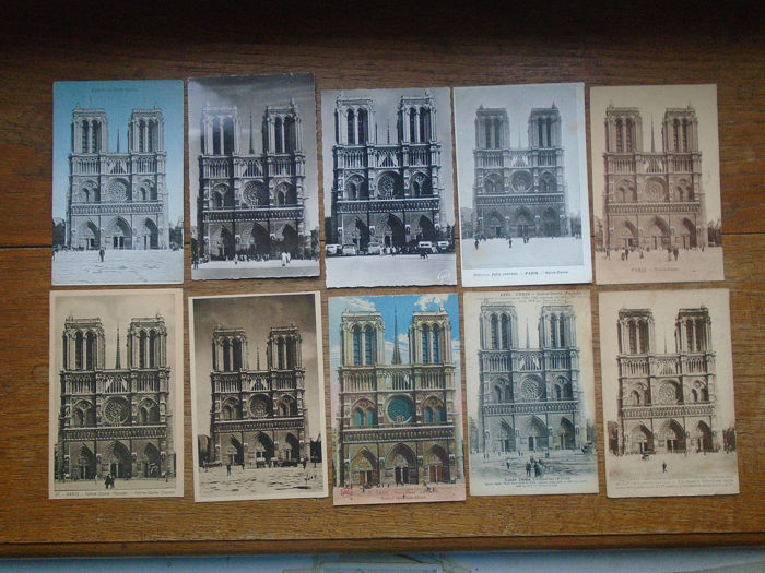 France Notre Dame Paris Postcards Collection Of 100 1906