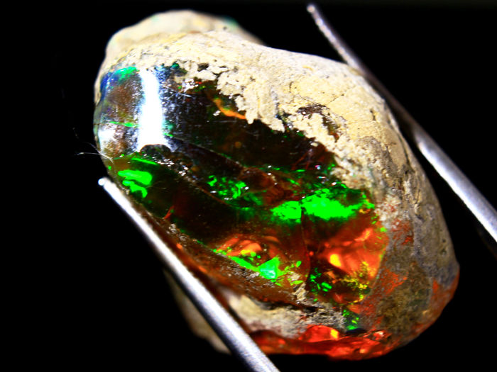 Cts.41.60 Raw Ethiopian Opal (Referentie 374) - 18×20×27 mm - 8.32 g
