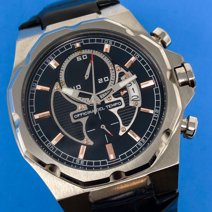 """Officina del Tempo - New Race Limited Edition Black and Rose Gold tone  - OT1041 """"NO RESERVE PRICE"""" - Hombre - BRAND NEW"""