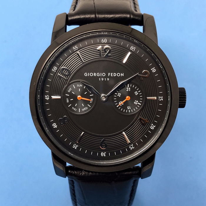 "Giorgio Fedon 1919 - Vintage II Day and Date Black PVD ""NO RESERVE PRICE"" - GFAE003 - Unisex - BRAND NEW"