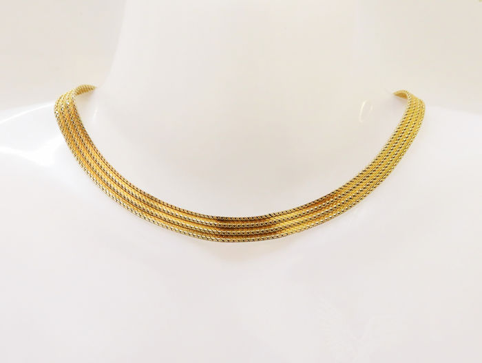 Vintage Henkel & Grossé Gold-plated - Necklace, 1970