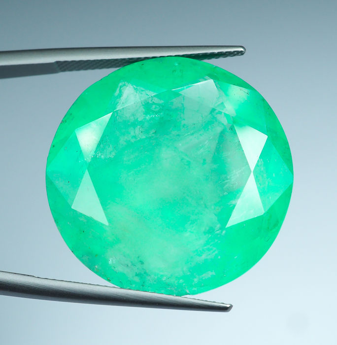 No Reserve - Green Emerald - 47.42 ct