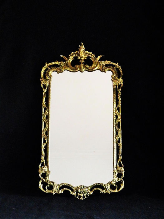 Art Noveau gilded large (79cm) Mirror - Bronze