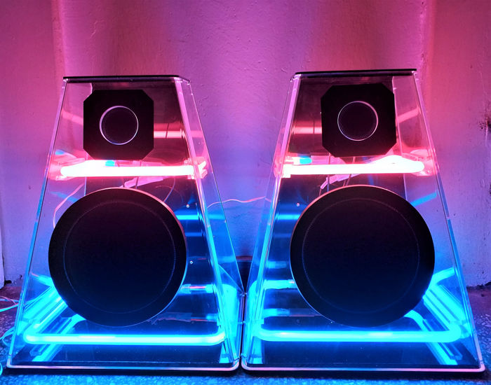 Cicena - Cleo Pink & Blue Neon Stereo Speakers (2)