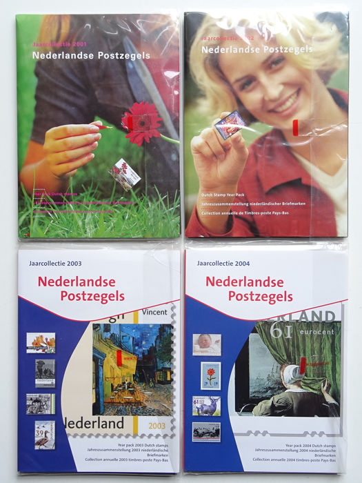 Niederlande 2001/2004 - Four official year collections