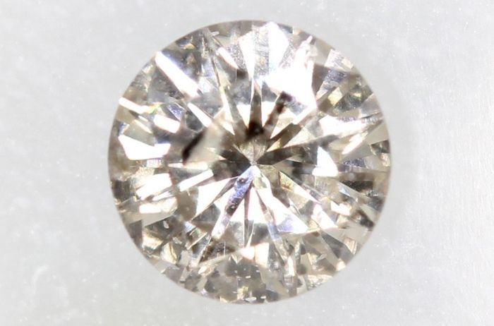Diamant - 0.26 ct - Brillant - O-P range - SI2 - * NO RESERVE PRICE *