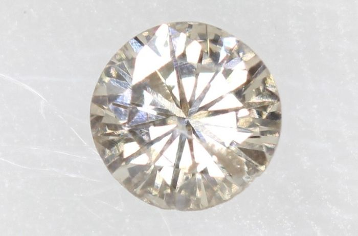 Diamant - 0.17 ct - Briljant - L - * NO RESERVE PRICE *