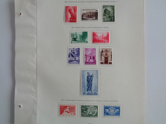 België 1954/1959 - Complete semi-modern collection - OBP / COB Entre N°943 à 1112