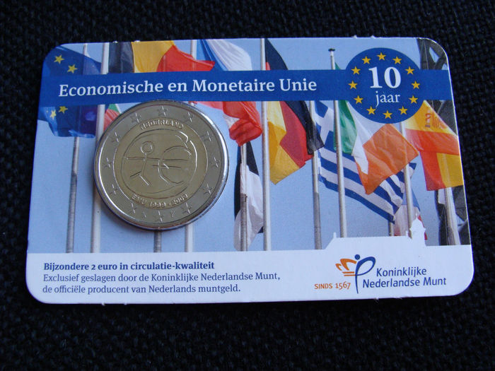 The Netherlands - 2 Euro 2009 '10 jaar EMU' in coincard