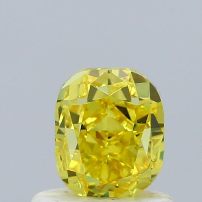 Diamante - 0.86 ct - Cojín - fancy vivid yellow - VVS2