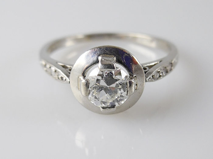 Platinum - Ring - 0.56 ct Diamond - Diamonds