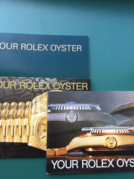 Rolex - Your Oyster Booklet 3 different  - Unisexe - 1985 TIL 2001