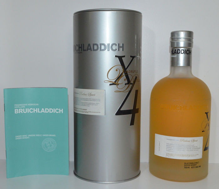 Bruichladdich 3 years old X4 Quadruple Distilled - 700ml