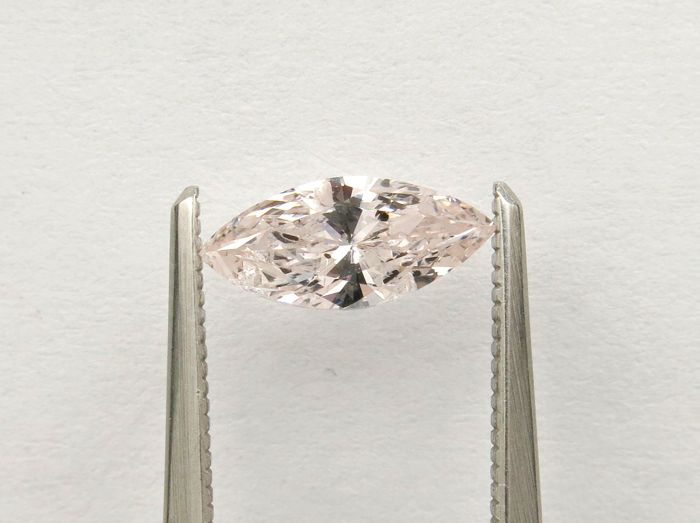 Diamond - 0.77 ct - Marquise - light pink - I1